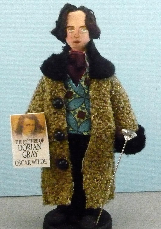 Oscar Wilde Doll Miniature Author of Dorian Gray