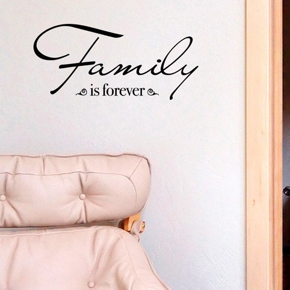 Wall Words - Family is forever