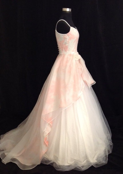 Wedding Dress Floral ENCHANTED Cotton Silk By FrenchKnotCouture