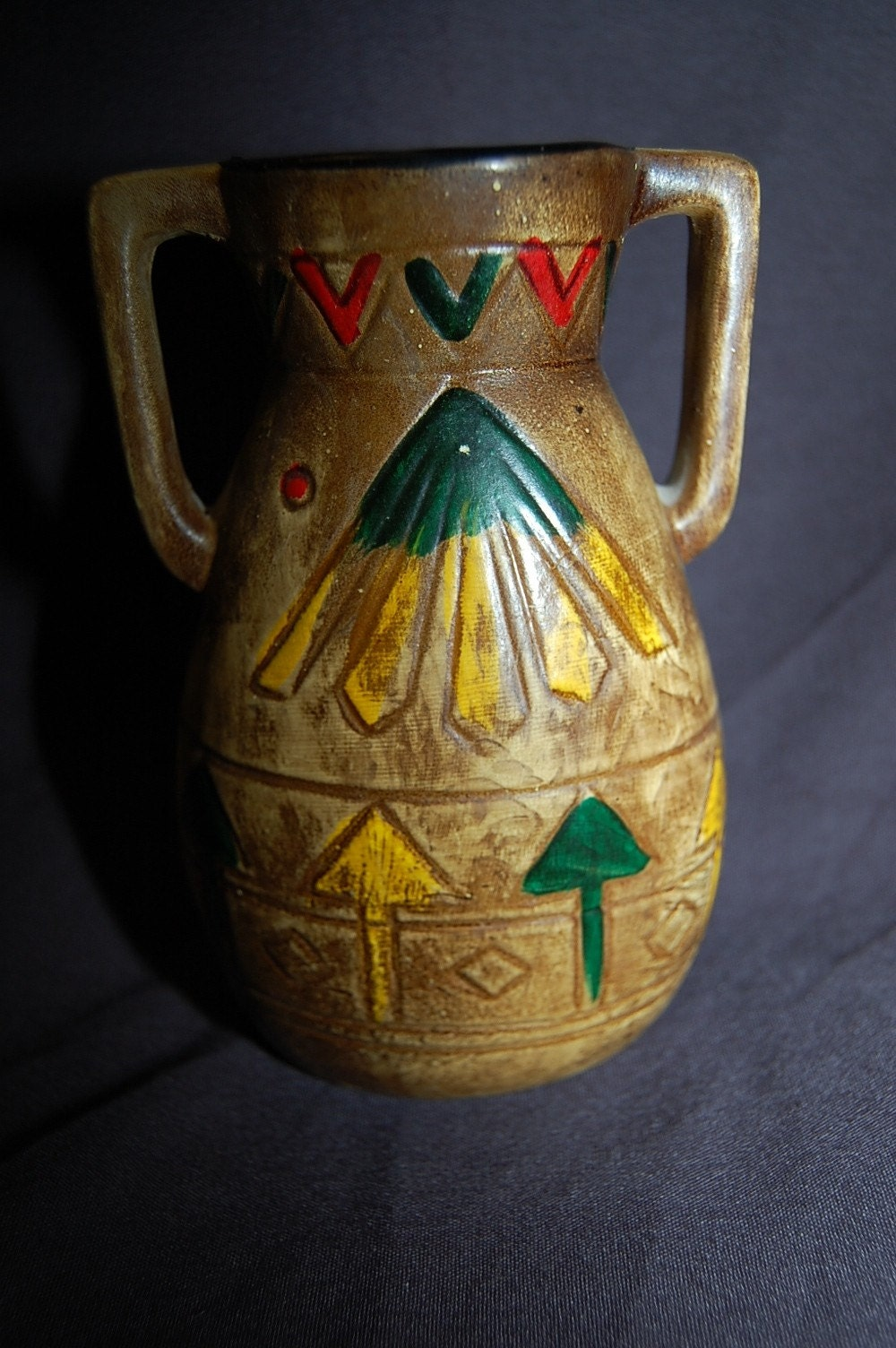 Vintage authentic cherokee indian vase rustic by bohemianangel for Cherokee indian wedding rings