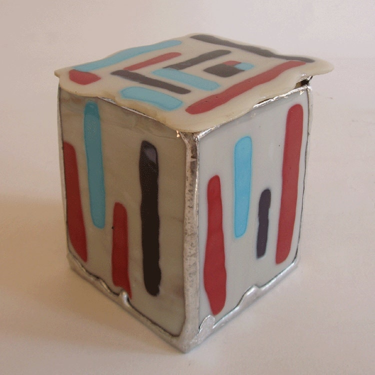 jewelry box fused glass by minjean6 on etsy
