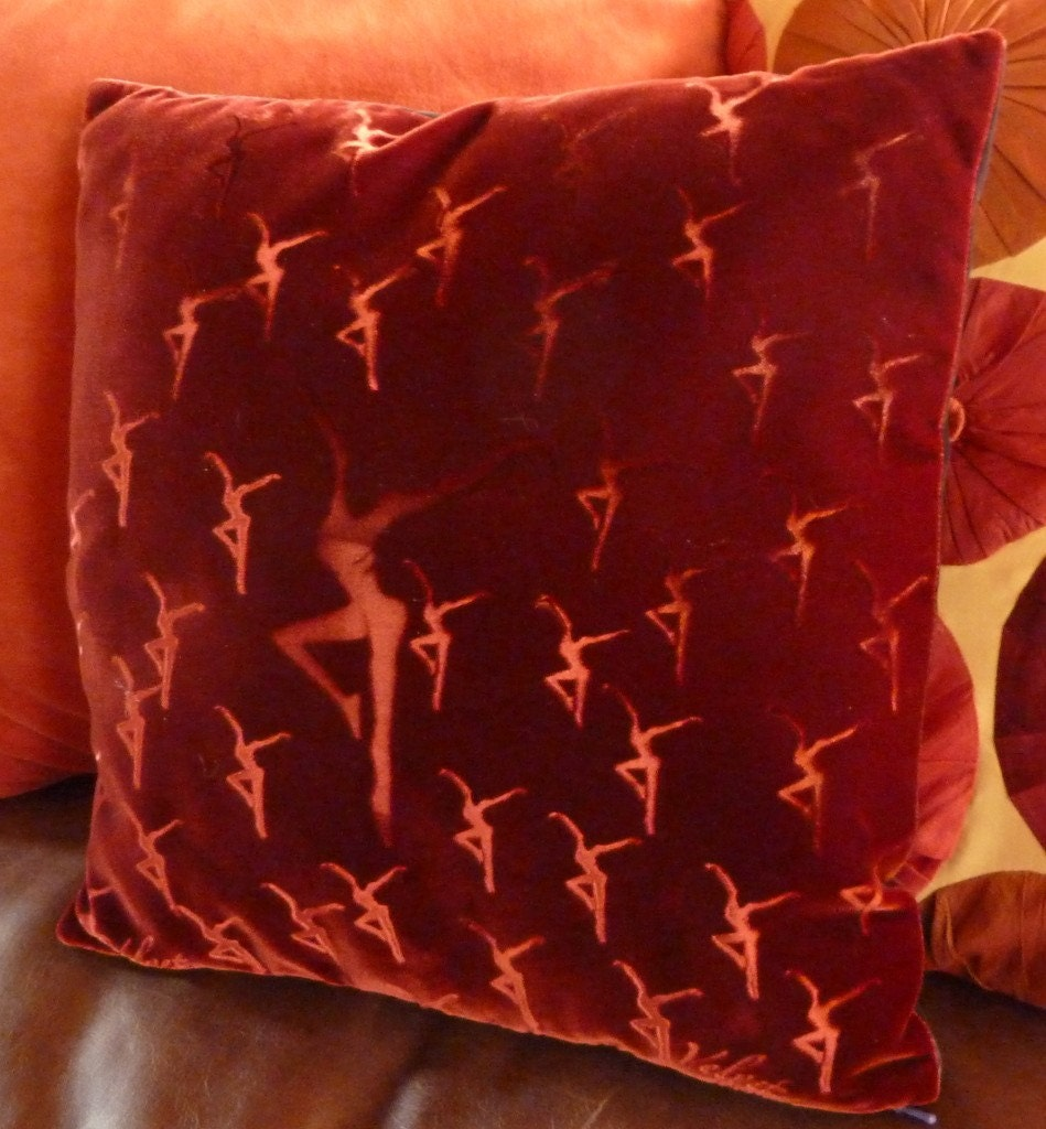 Velvet Pillow Decorative DMB Firedancer 14x14 Custom Reversible Embossed by Velvet manna for Etsy