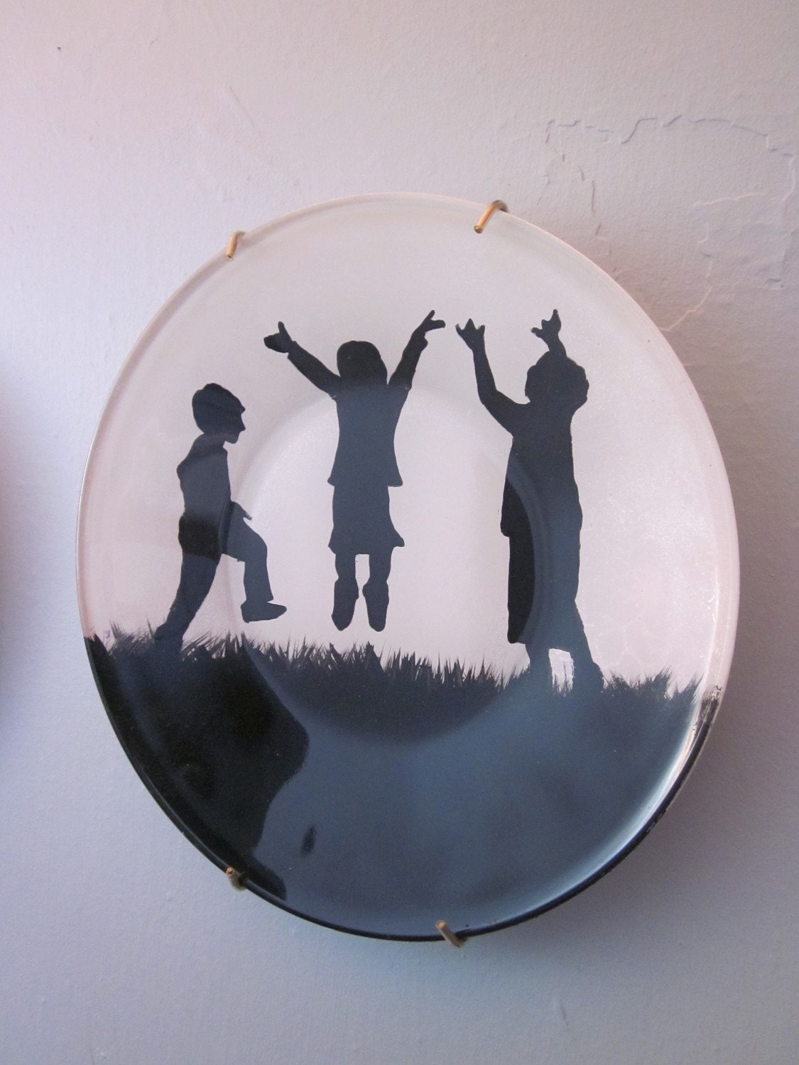Handpainted Silhouette Plate - Child's Play