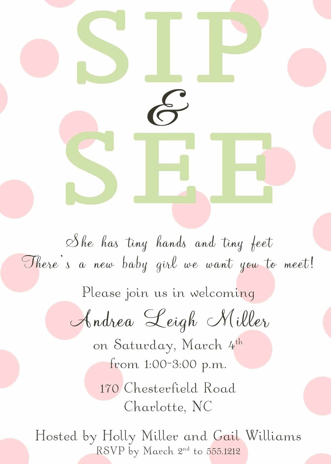 Sip N See Invitation Wording are Perfect Layout To Create Inspiring Invitations Design