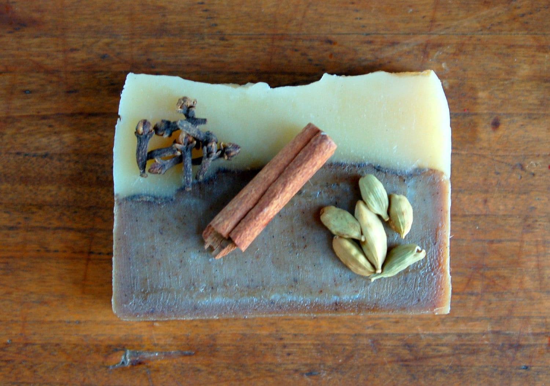 Chai - organic soap, warm and spicy vegan soap - mirasolfarm