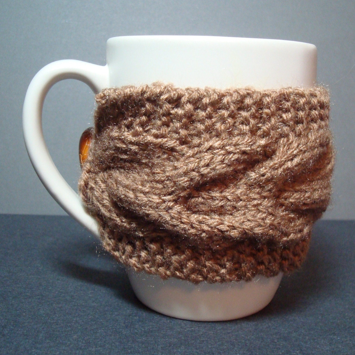 Knitted Mug Cozy by CreationsByEileen on Etsy