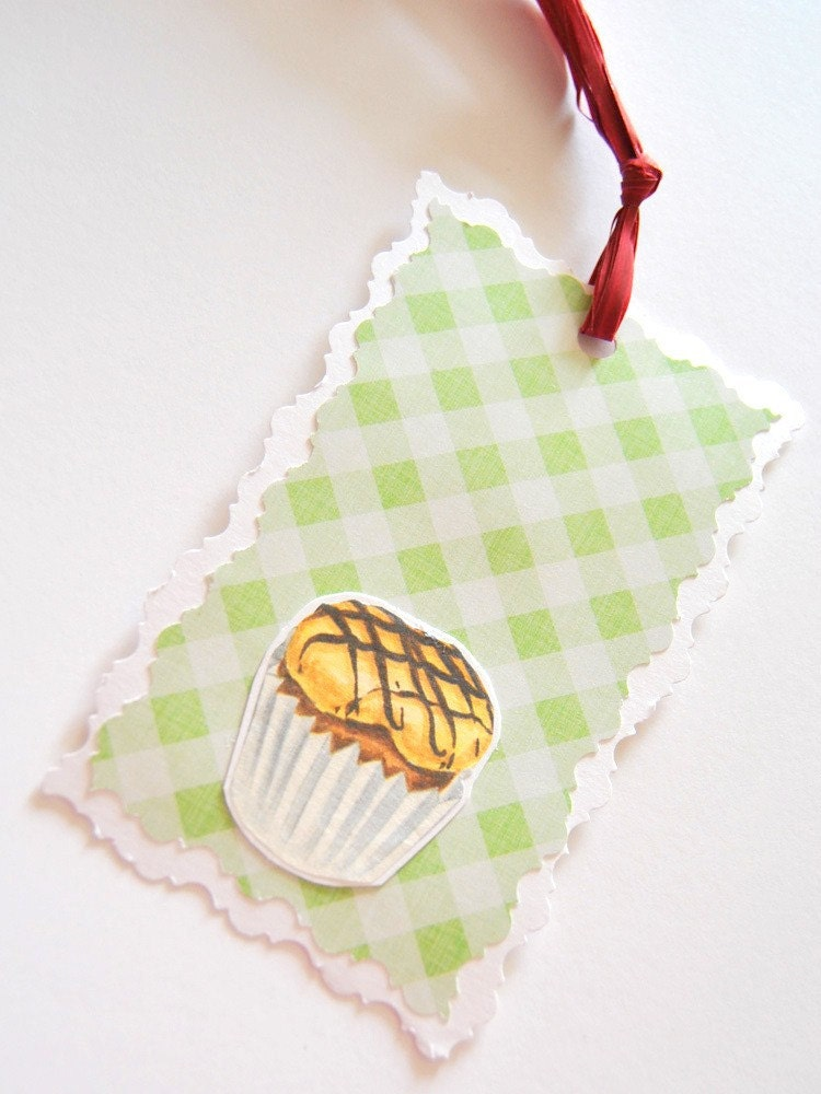Set of 5 yummy handmade tags