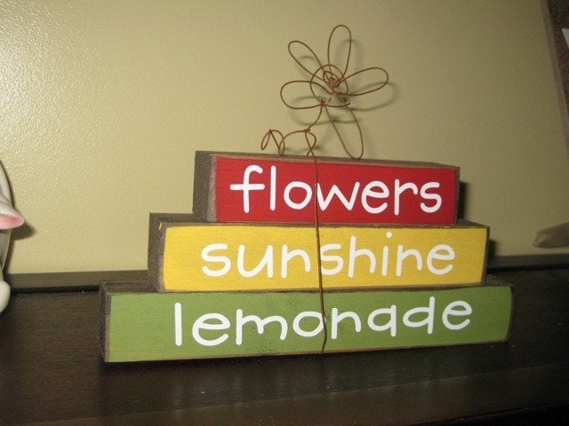 Summer Stacker Flowers Sunshine Lemonade Wire Flower FREE SHIPPING