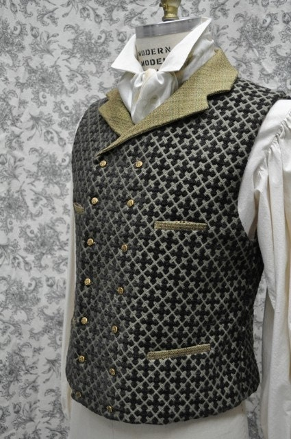 Men's Steampunk Vest--Handmade--Custom Tailored--Made to Measure--Double or Single Breasted Option--small-medium-large-extra large-xxl - OnceUponABustle