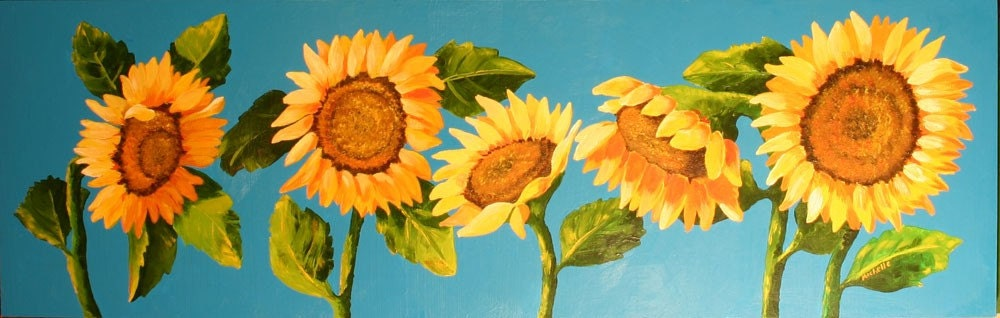 Original Acrylic Sunflowers