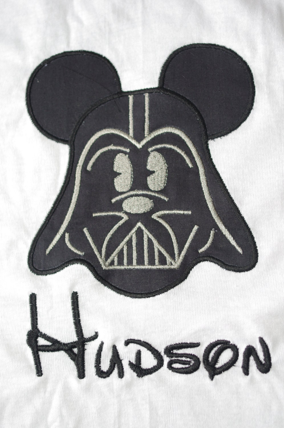 Mickey Mouse Star Wars Applique Shirt Or Onesie By Livieq