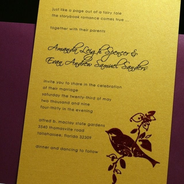 Love Bird Invitation Set