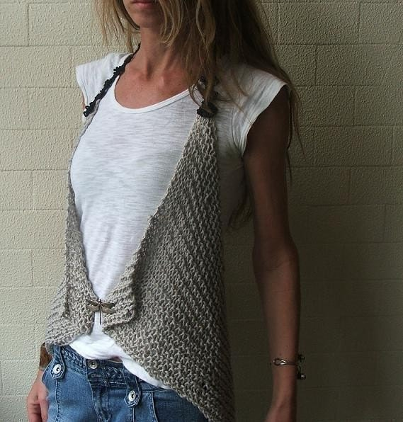 Grey cotton waistcoat LAST ONE in this shade