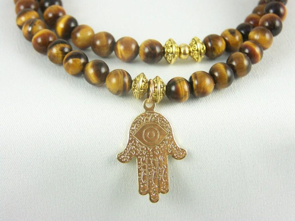 Stretch Bracelet, Tiger Eye Necklace, Anklet, Yoga Bracelet, Meditation Bracelet, Free Shipping, Unisex