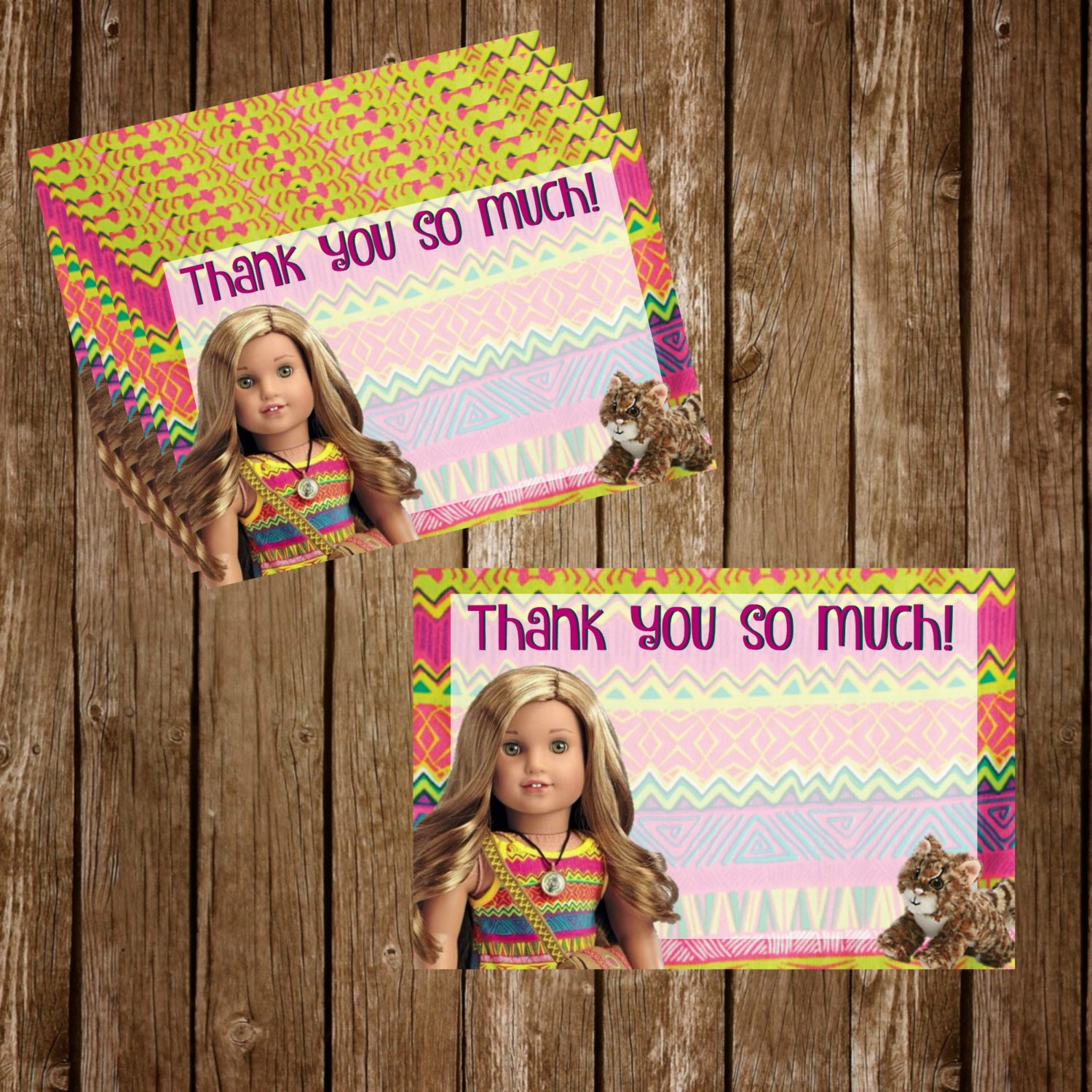 Lea Clark American Girl Doll Printable Thank You Cards