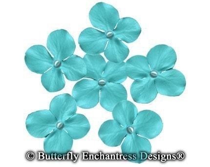 Tiffany Blue Hydrangea Bridal Hair Pins