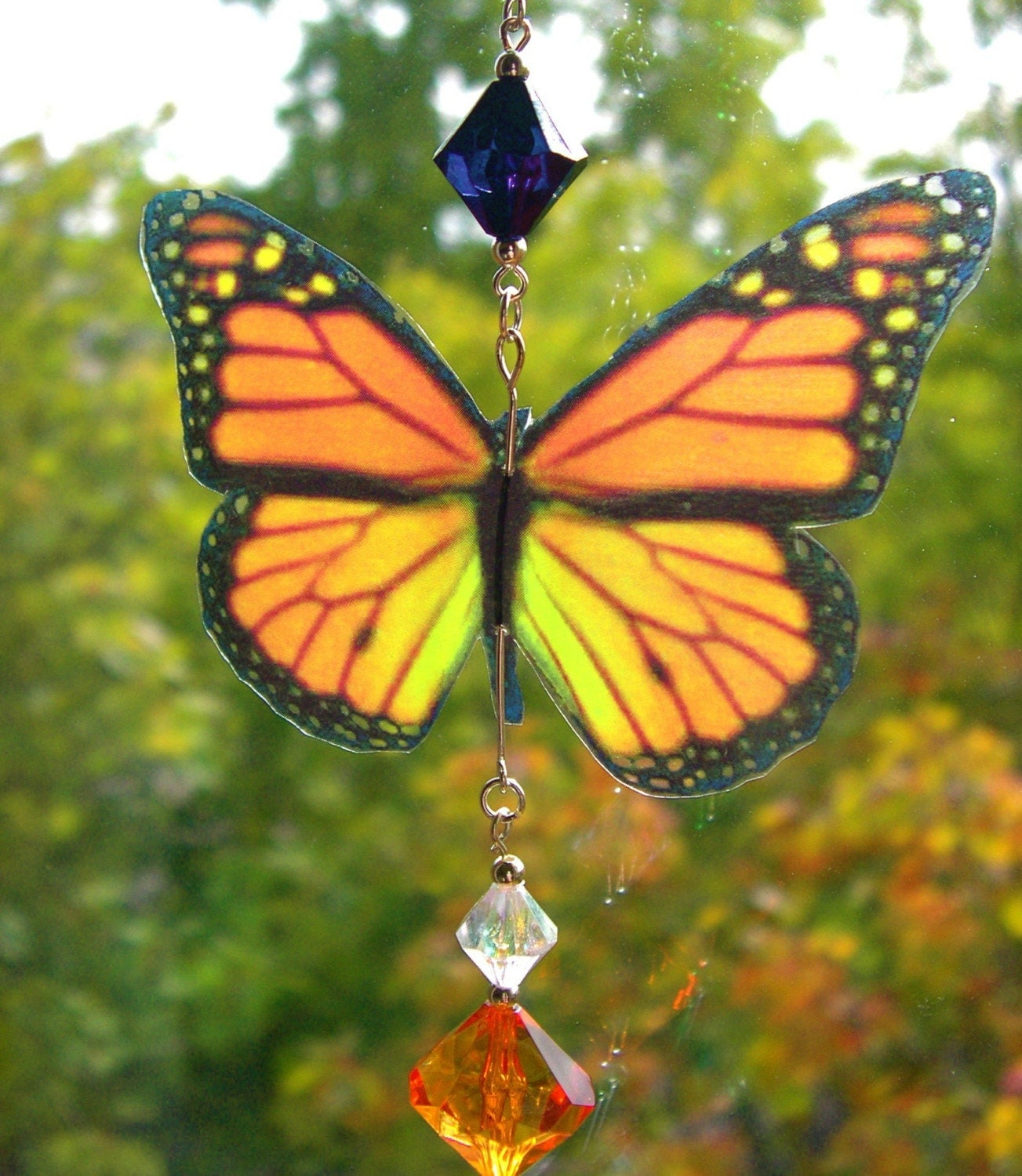 Monarch 3D Butterfly Sundrop Suncatcher