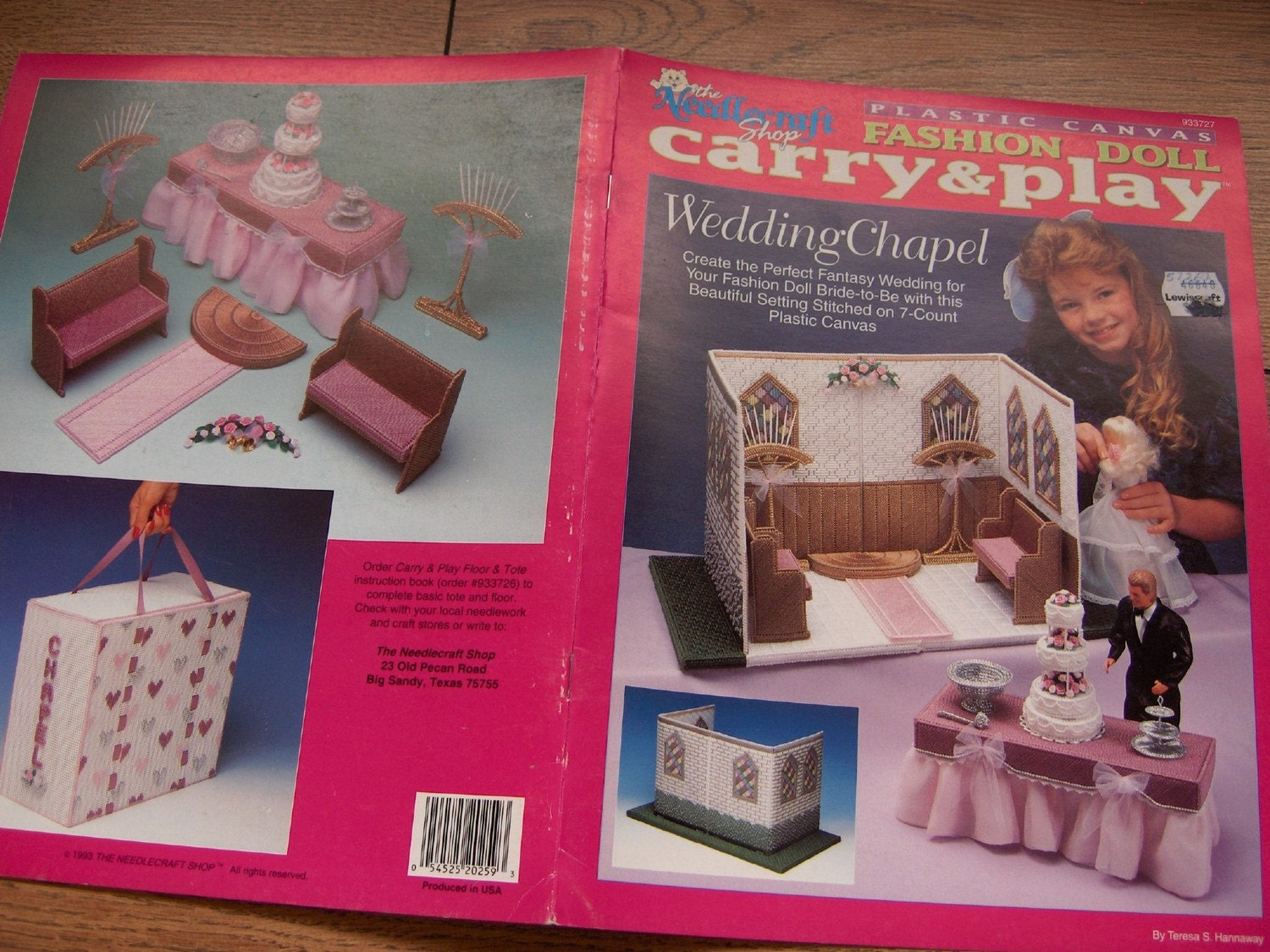 1993 plastic canvas pattern barbie fashion doll carry and play wedding