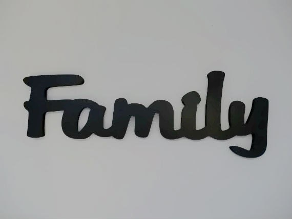 wooden wall decor word family sign by lettersbyleslie on etsy