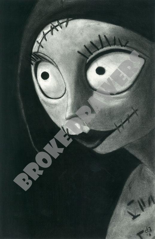 Tim Burton Sally A Nightmare Before Christmas by BrokeDrawers