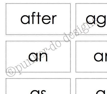 Sight Word Flash Card Template Bingo Card Template in Word