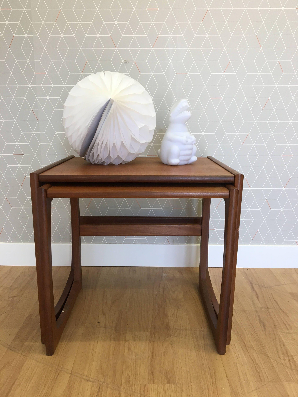 Teak Wooden Coffee Table Mid Century Design Vintage Retro 1960s 1970s Danish