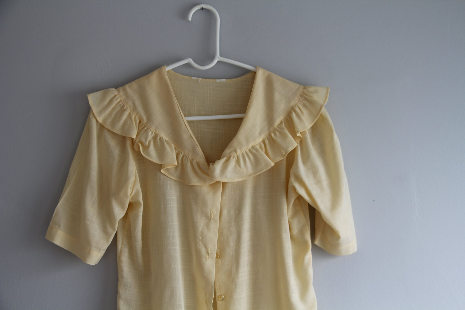 1980s Cream Sailor style blouse