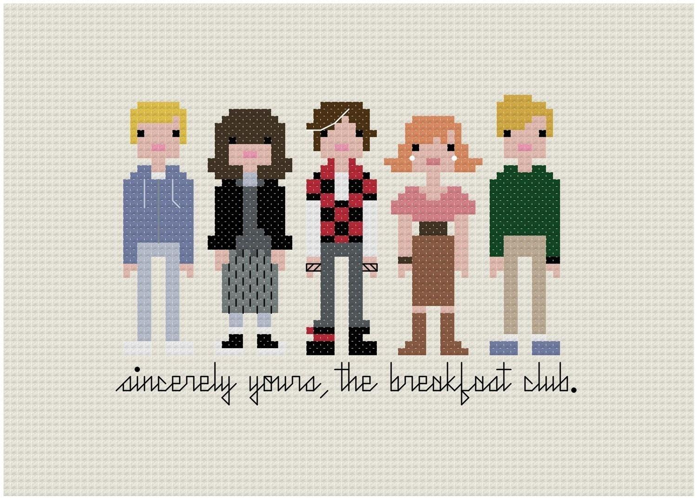 The Breakfast Club - Cross-stitch PATTERN PDF