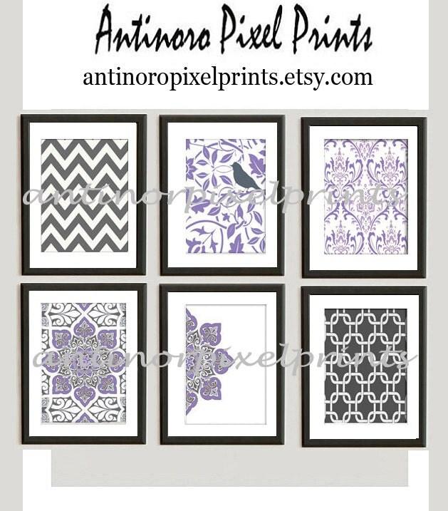 lavendar purple grey wall art vintage by antinoropixelprints. Black Bedroom Furniture Sets. Home Design Ideas