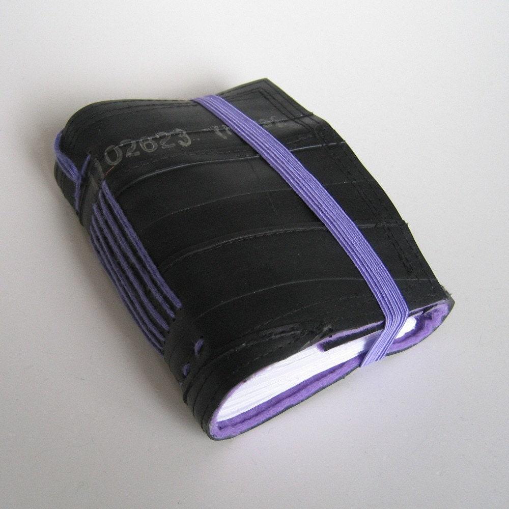 Handmade recycled bike inner tube journal