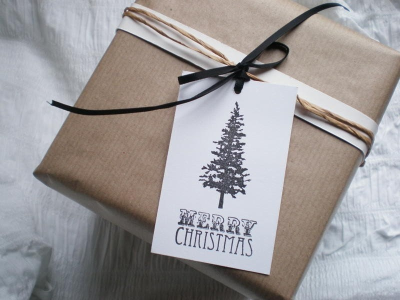 Handmade Christmas Gift Tags-Christmas Tree-Set Of 6