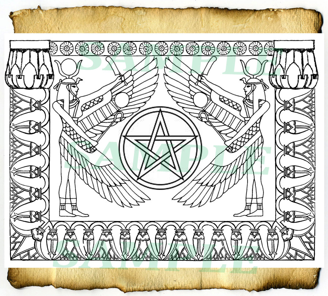 Digital graphics egyptian magick 2 bos by cauldroncraftodditys Coloring book of shadows
