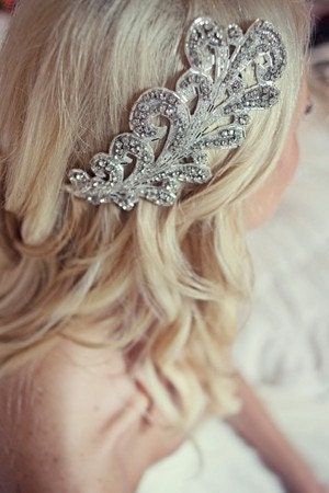Most Adored-Bianca deco glamour crystal headpiece-made to order