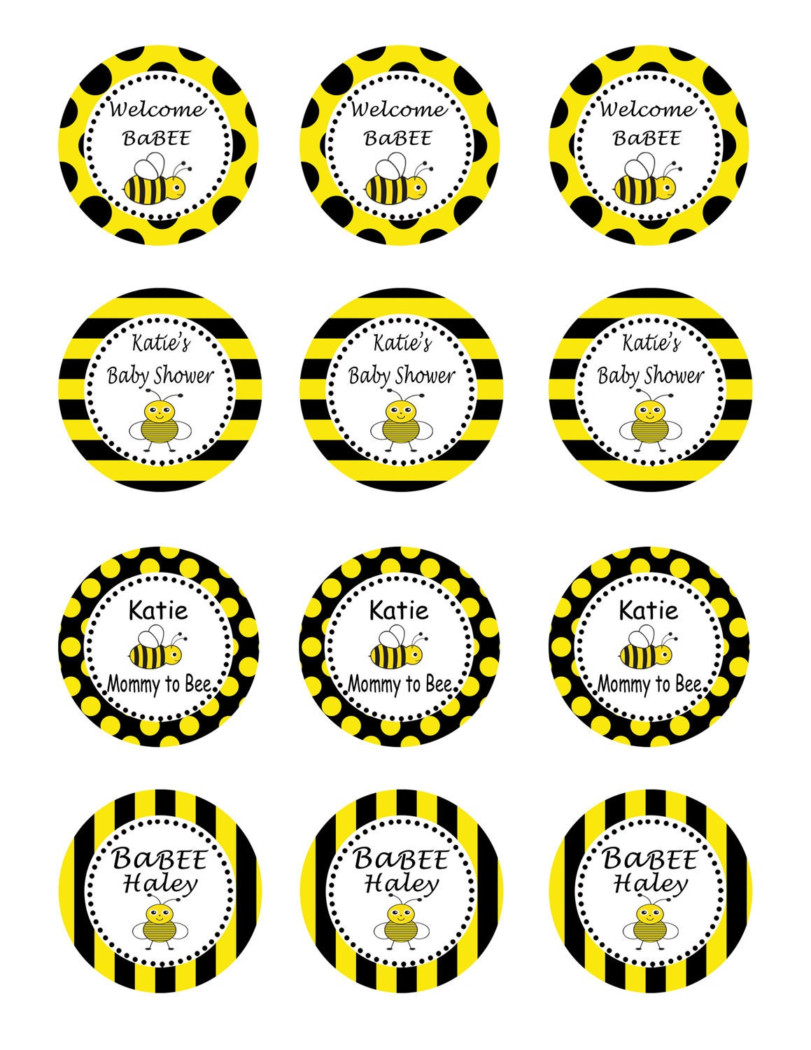 Snap FREE Bumble Bee Party Printables from Printabelle Catch My ...