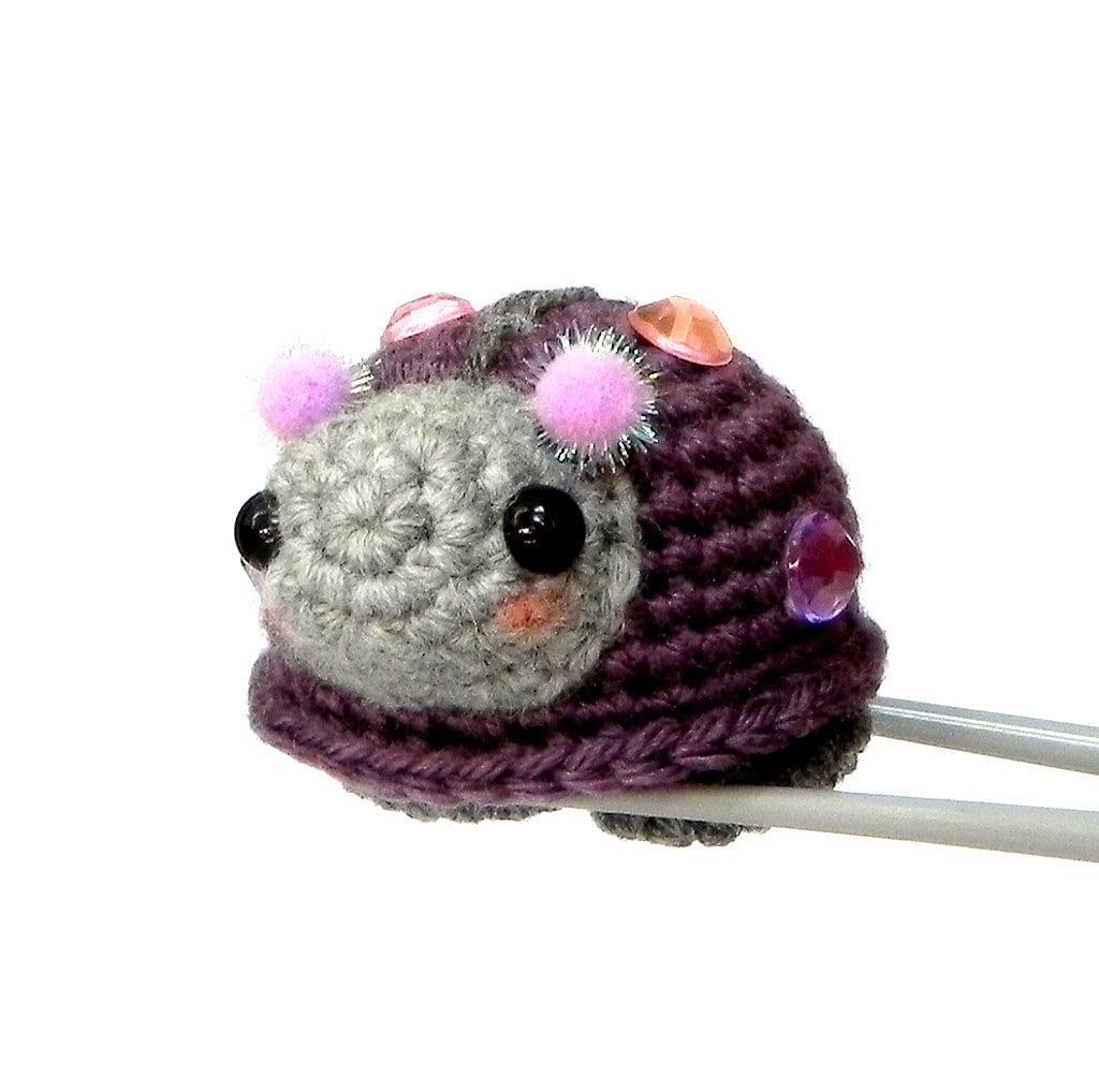 Amigurumi Crochet Size : Amigurumi mochi size crochet toy doll Purple bling by ...