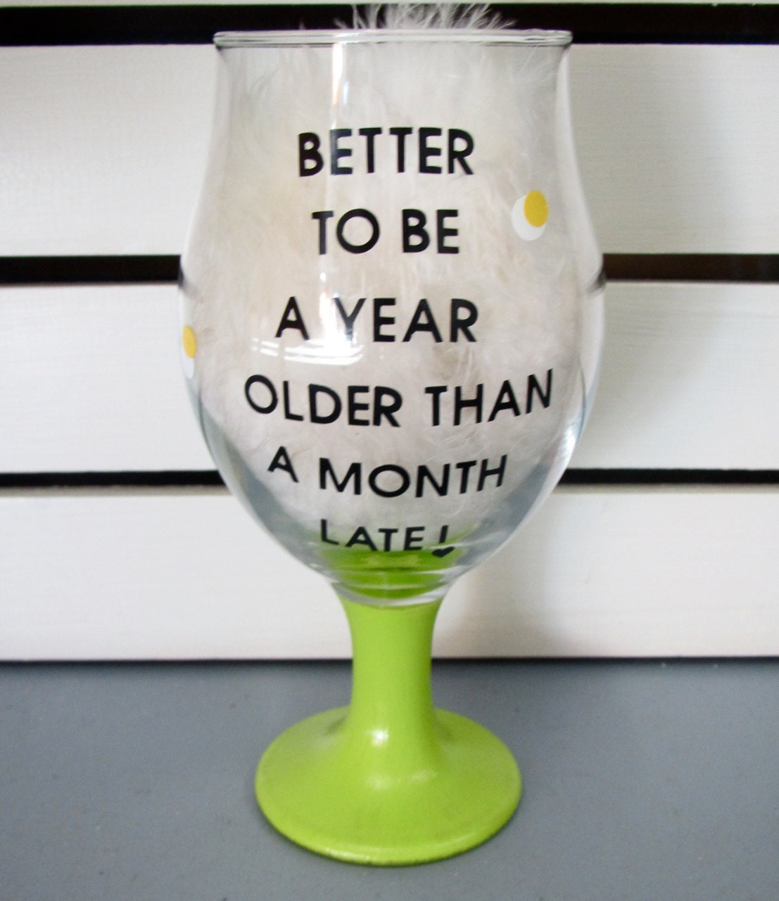 Funny saying painted wine goblet glass glasses by wordsofwisdomnh