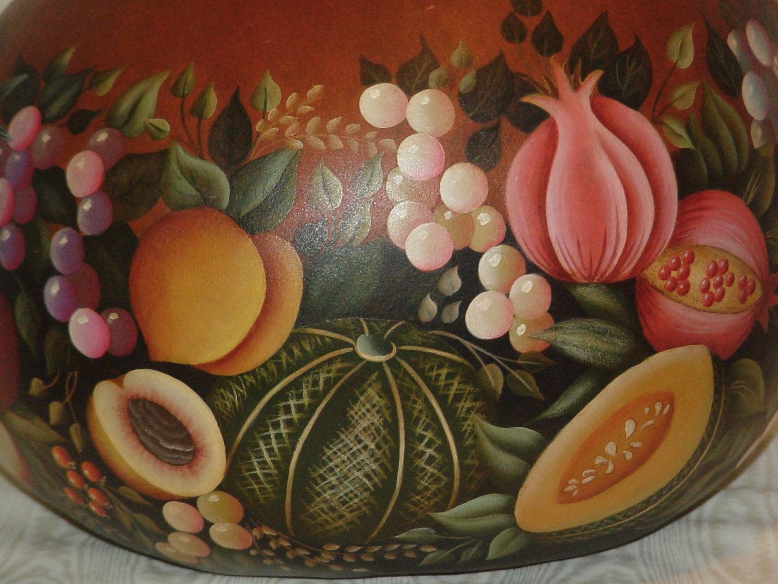 Abundant Harvest - Hand Painted Gourd