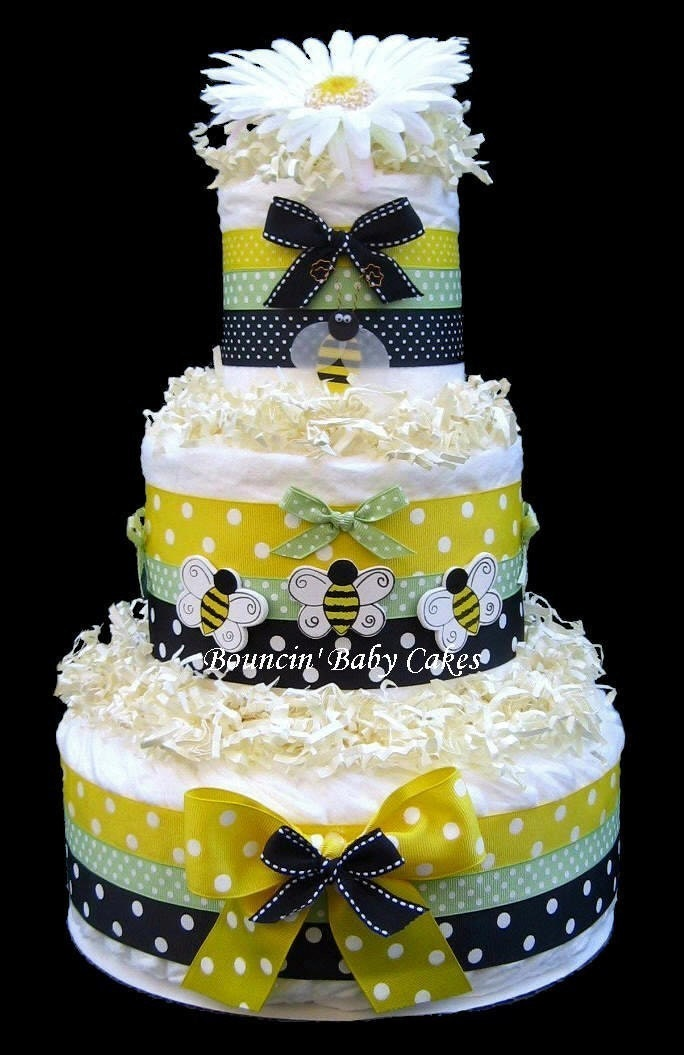 items similar to bumble bee diaper cake baby shower gift on etsy