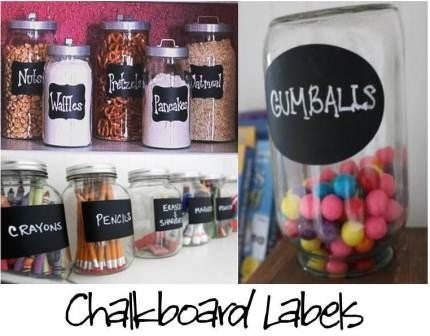 Chalkboard Labels  Organize and Personalize with Chalk Labels   - 36 Labels - Rectangle, Fancy, and Oval FREE SHIPPING