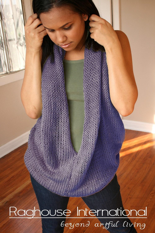 Purple Haze Hand Knit Blouse by raghousenternational on Etsy