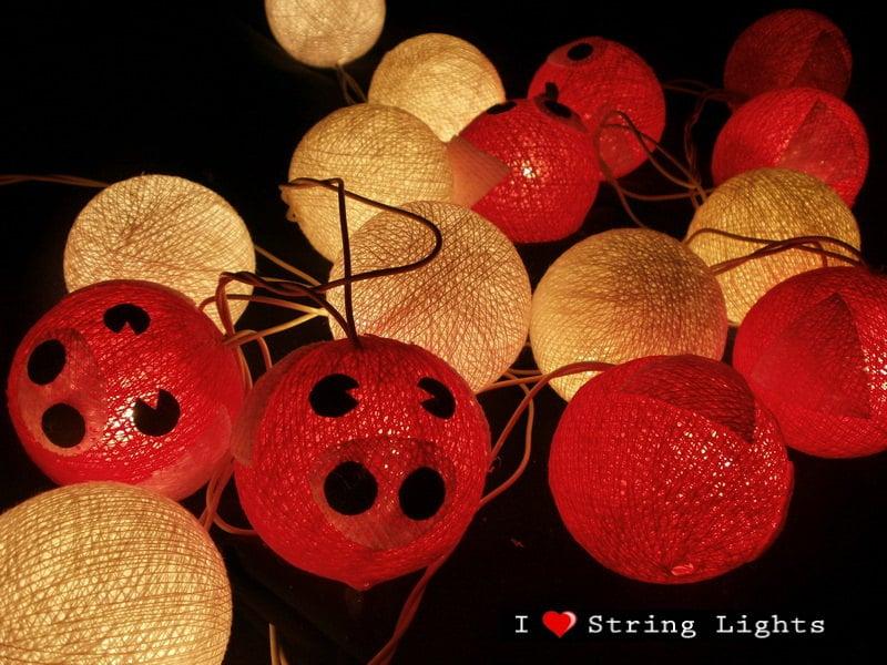 Pink Piggies Cotton dolls String Lights For Wedding and House decoration (20 balls/Set) - LoveStringLights
