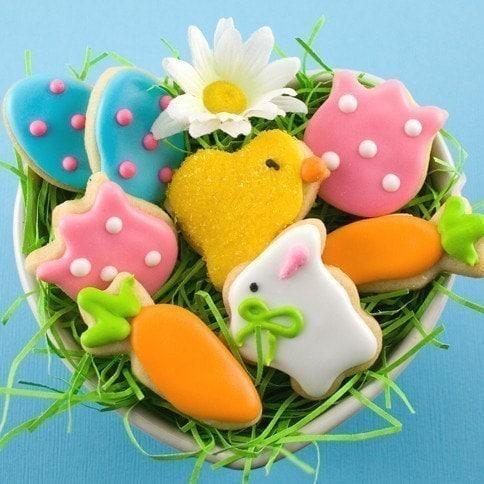 Easter Sugar Cookies - Petite Shapes - 1 box (8 cookies)