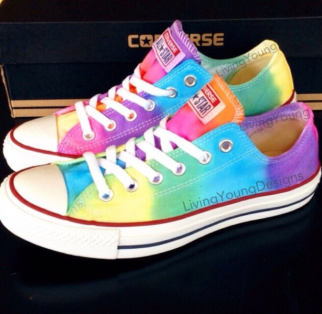 tie dye converse colorful custom tie dye by livingyoungdesigns