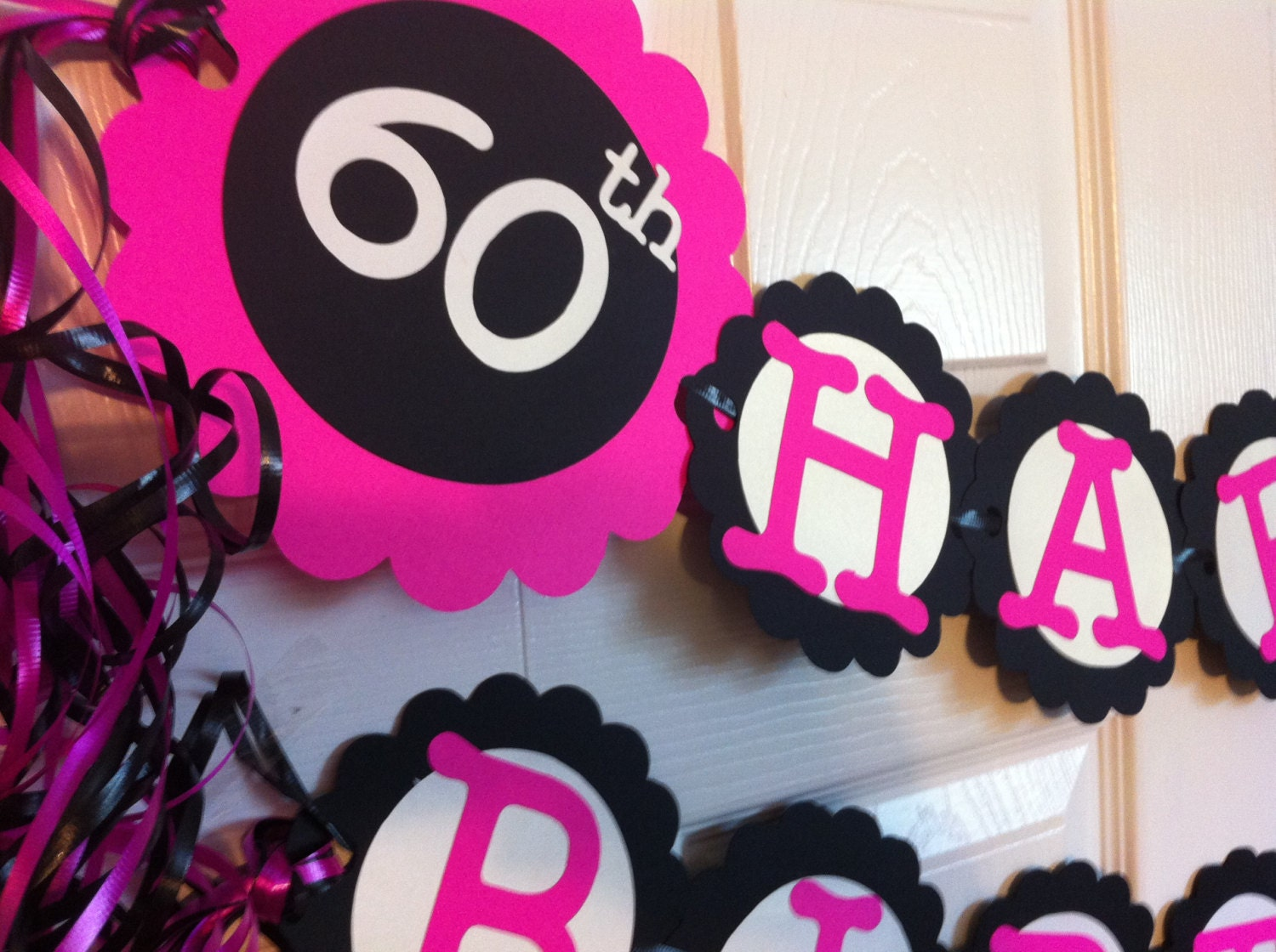 60th birthday party decorations personalization by frombeths for 60s decoration ideas party