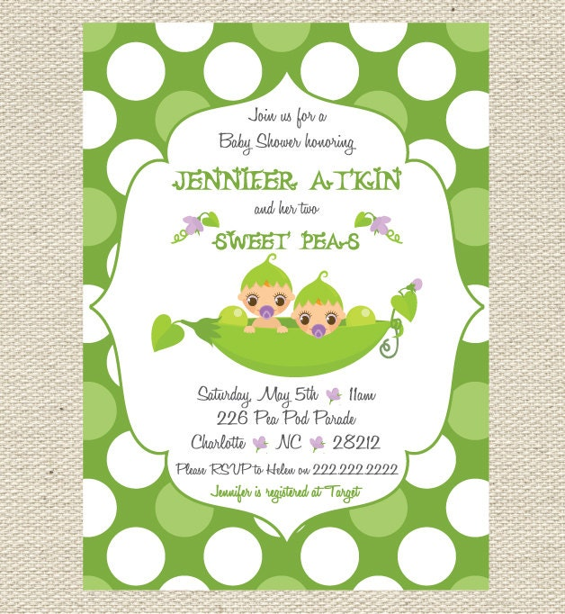 items similar to sweet pea baby shower invitation printable on etsy