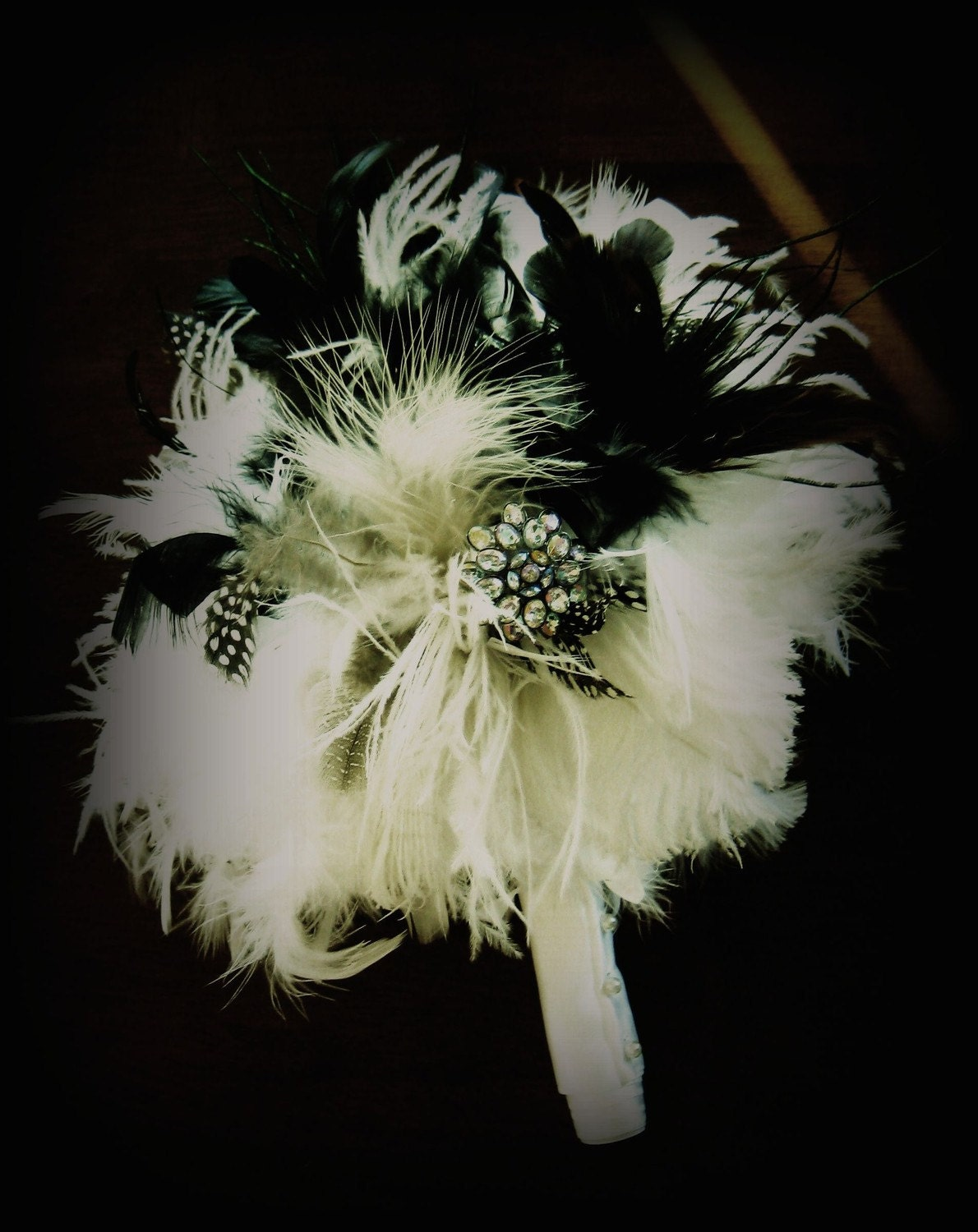Black and White Feather Bouquet