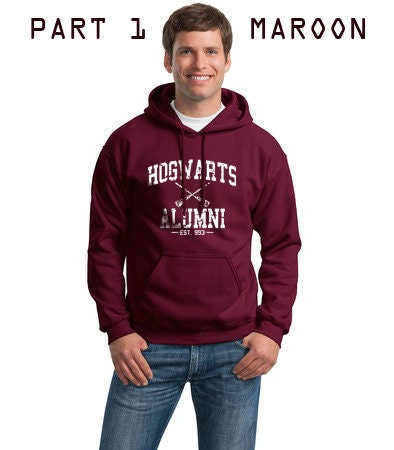 PART 1 - Hogwarts Alumni est 993 Harry Potter Sweatshirt Hoodie S to 2XL Gildan 9500