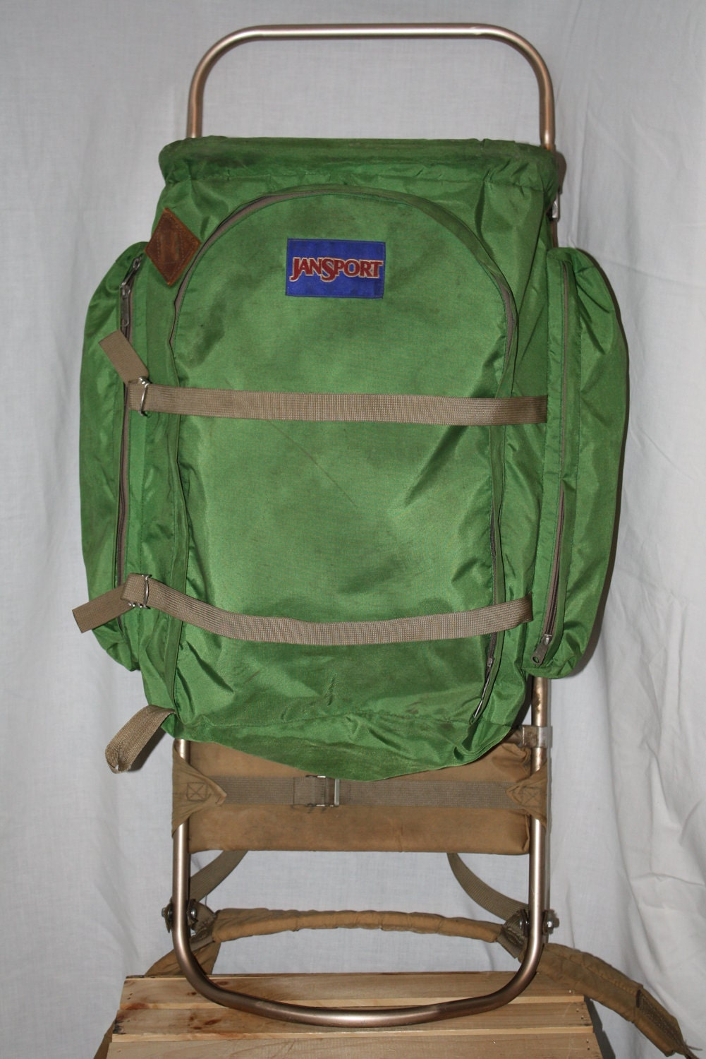 Vintage Jansport Backpack External Frame Green Pack By