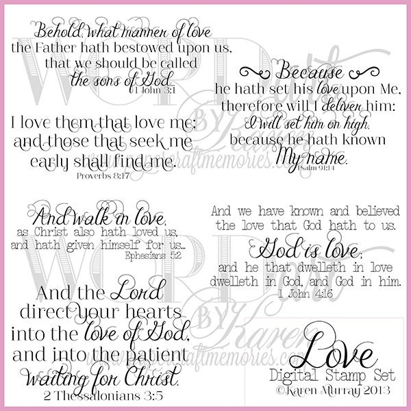 love theme scripture digital word artkjv by wordartbykaren