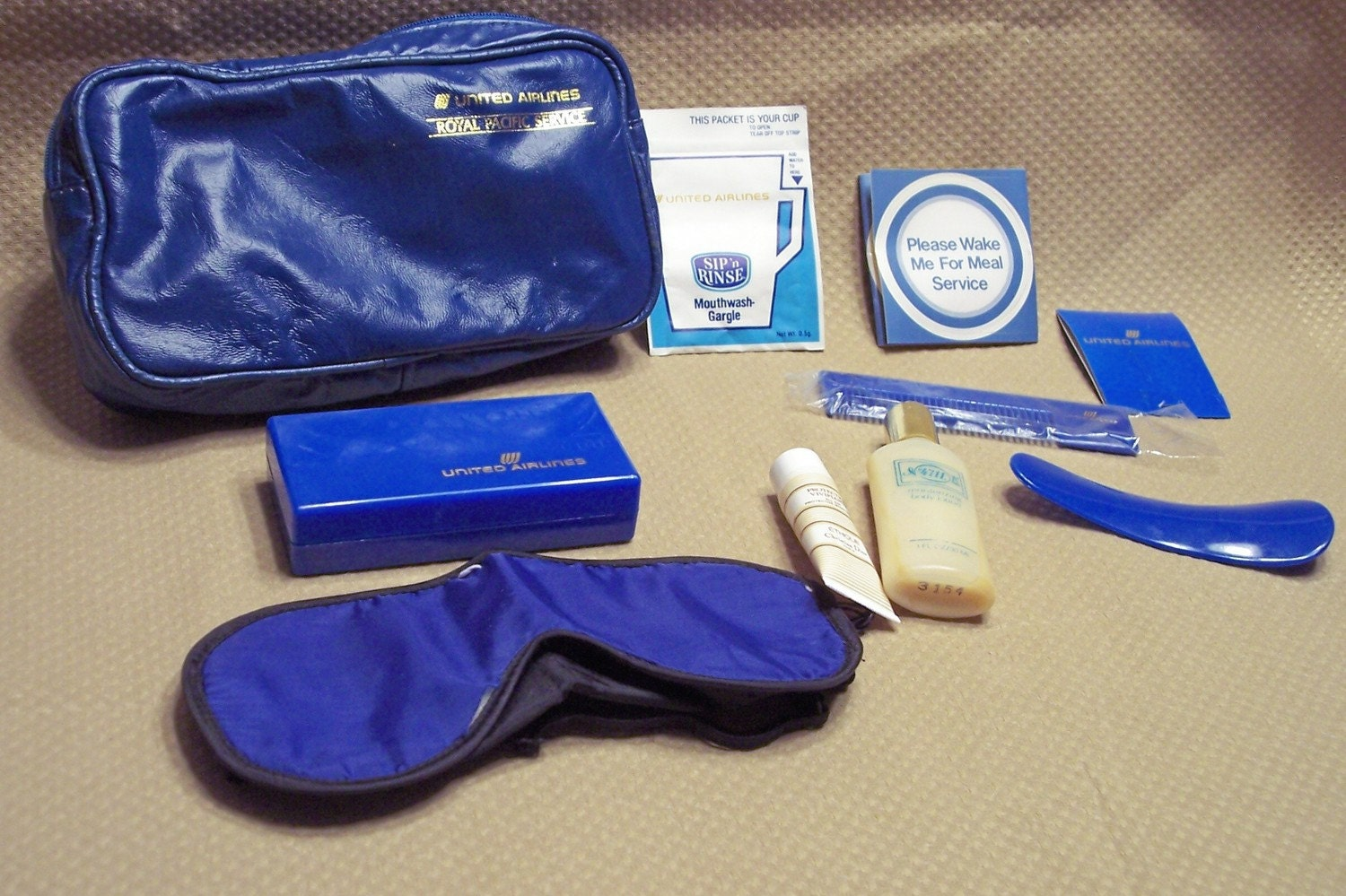 Vintage Airline Kit - United Airlines Toiletries
